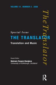 Translation and Music Copertina del libro