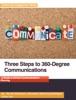 Three Steps To 360-Degree Communications