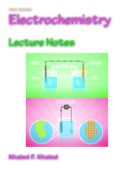 Electrochemistry Lecture Notes