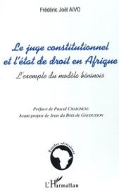 Le Juge Constitutionnel Et L Tat De Droit En Afrique