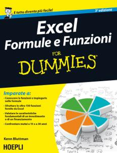 Excel formule e funzioni For Dummies Copertina del libro