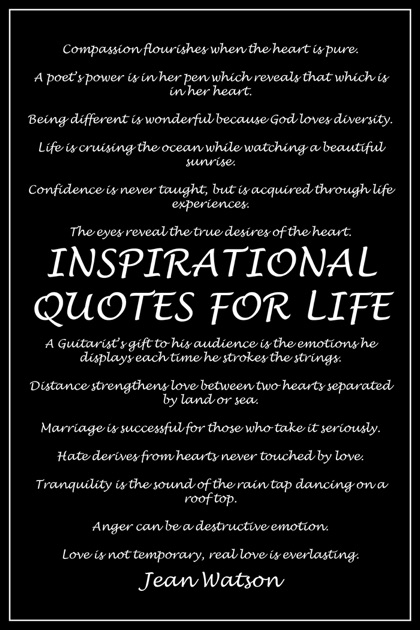 Inspirational Quotes For Life By Jean Watson On Apple Books