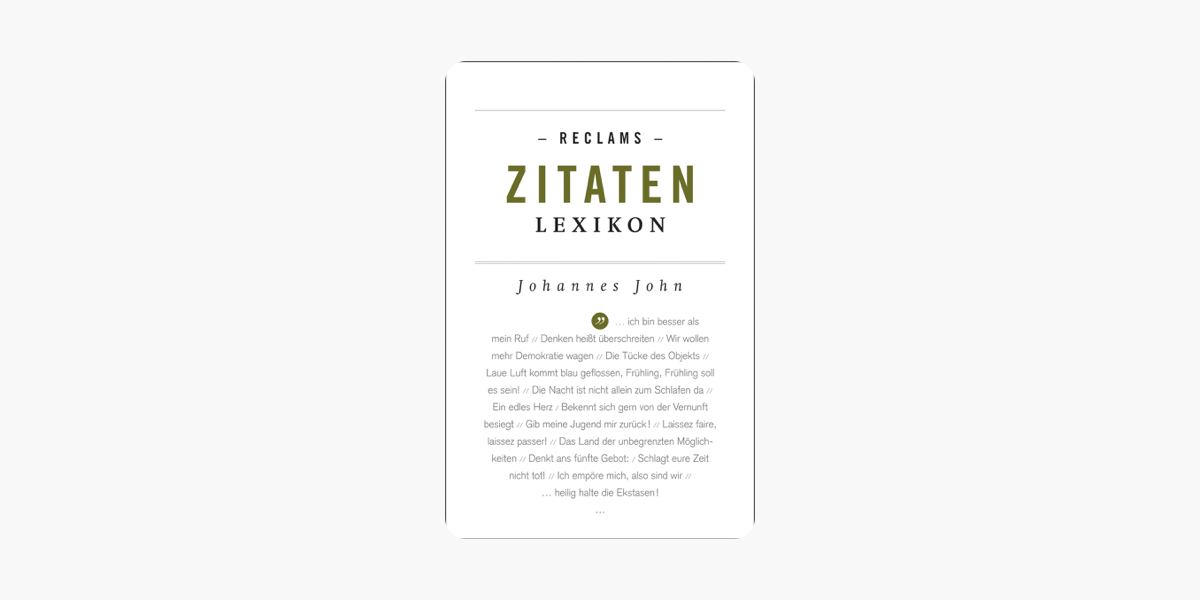 Reclams Zitaten Lexikon On Apple Books