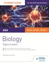 AQA ASA Level Year 1 Biology Student Guide Topics 3 And 4