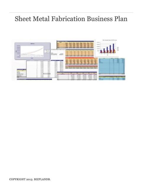 fabrication shop business plan