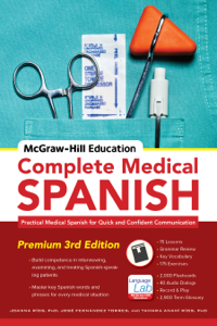 McGraw-Hill Education Complete Medical Spanish Book Cover