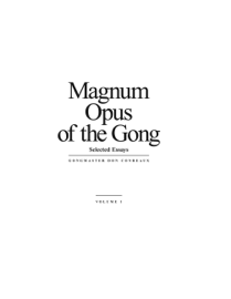 Magnum Opus of the Gong book