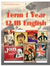 Term 1 Year 12 IB English A1