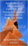 Application Of Derivatives Tangents And Normals Calculus Mathematics E-Book For Public Exams
