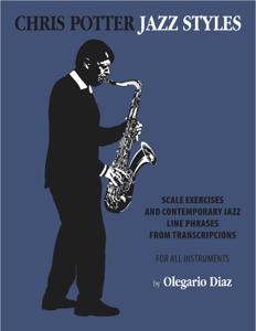 Chris Potter Jazz Styles Copertina del libro