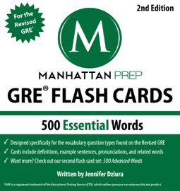500 Essential Words: GRE Vocabulary Flash Cards book