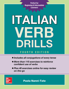 Italian Verb Drills, Fourth Edition Libro Cover