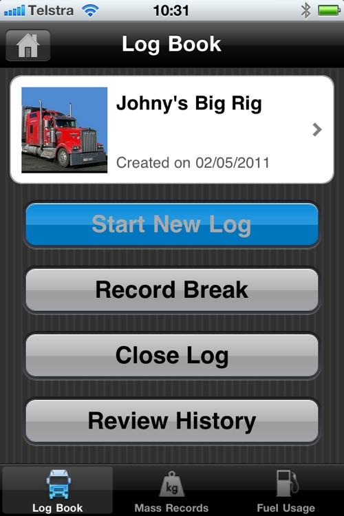 TruckLog - Truck Drivers Log Book
