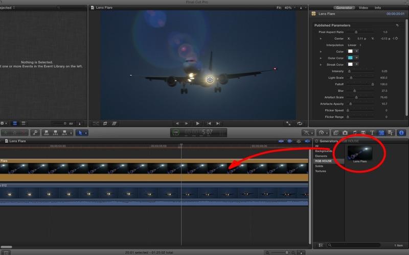 点击获取Lens Flare for Final Cut Pro