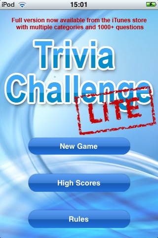 Trivia Challenge Lite