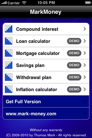 Compound Interest Calculator ✭ powered by MarkMoney ✭ screenshot-0