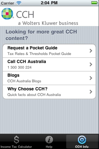 CCH Income Tax Rates Calculator Lite screenshot-4