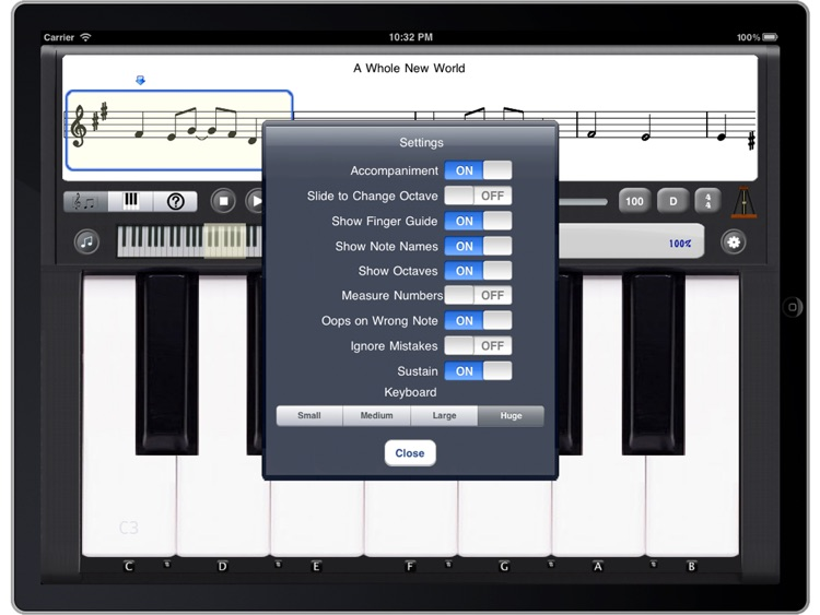 ezPiano for iPad: 100+ Songs with Full Accompaniment! screenshot-3
