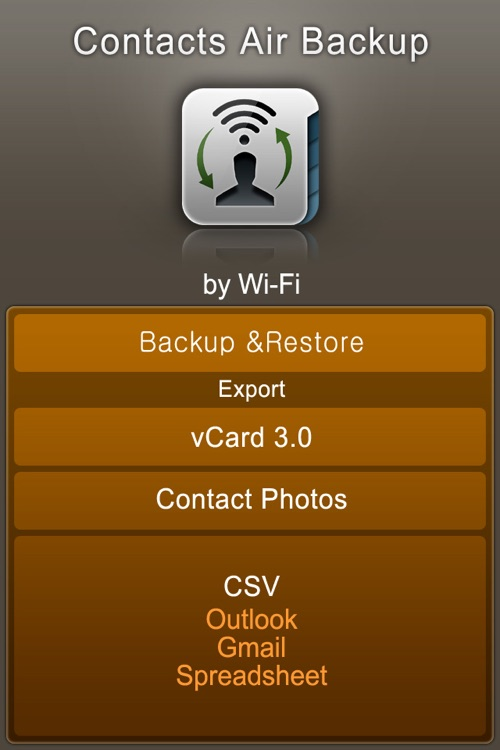 Contacts Air Backup (Backup, Restore, Export)