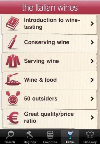 the Italian wines screenshot-3