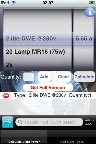 Light Power Calculator Lite