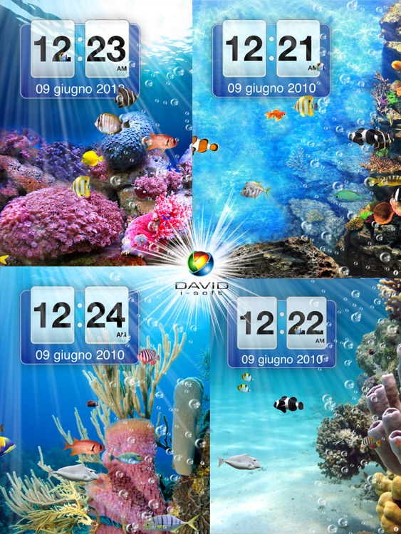 Amazing Aquarium Clock HD LITE screenshot-4