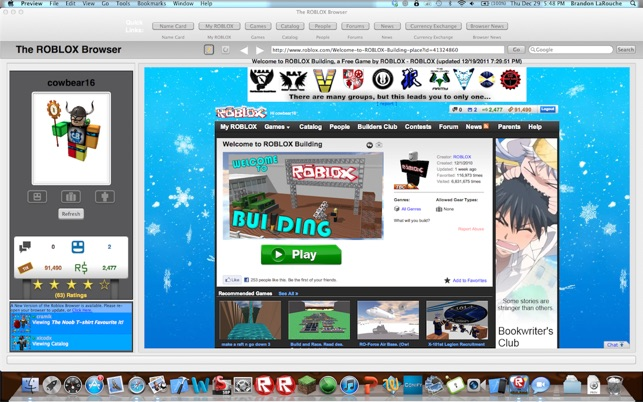 The Roblox Browser On The Mac App Store