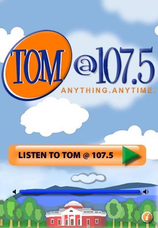 Tom @ 107.5 / Anything.Anytime. / WWTJ, Charlottesville, VA