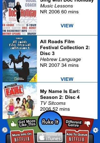 fluke flix - random movie finder by RustyBrick, Inc  (iOS