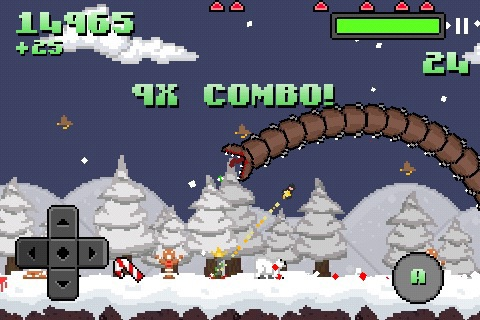 Super Mega Worm Vs Santa screenshot-0