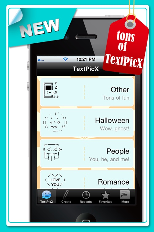 TextPicX - Creative SMS/Facebook Art for iPhone Texting(Free)