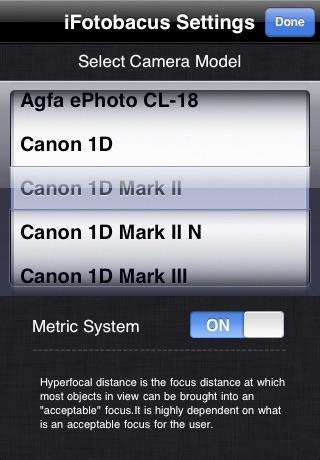 Hyperfocal Calc screenshot 3