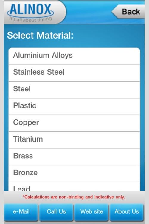 Alinox Metal Weight Calculator