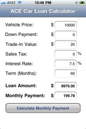 ACE Car Loan Calculator on the App Store