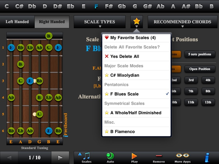 Guitar Scales, Arpeggios & Chord Finder