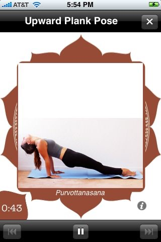 Yoga Trainer Lite screenshot one