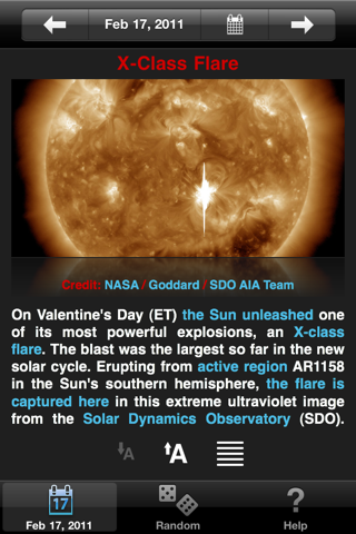 APODViewerLite - Astronomy Picture of the Day screenshot one