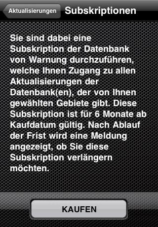 Radarhinweise Österreich: Warnung