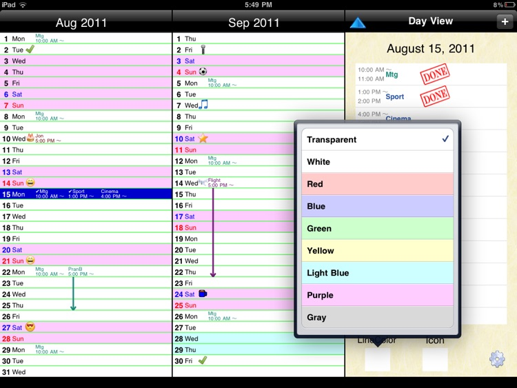 3 Months Calendar (sync with Google Calendar™) screenshot-4