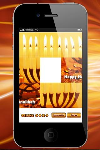 Hanukkah Sliding Puzzle HD Lite screenshot-4