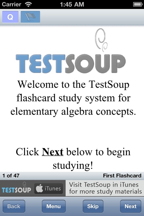 Basic Algebra I Concepts