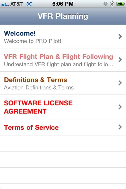 PRO Pilot VFR Planning