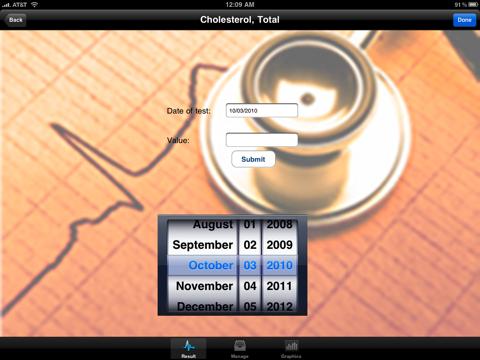 "Blood Test Monitor ""for iPad"" Lite screenshot four"