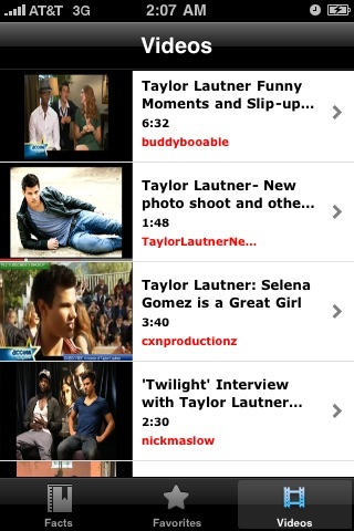Taylor Lautner Awesome Facts screenshot-3