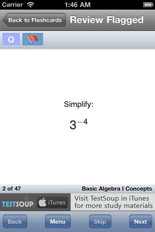 Basic Algebra I Concepts screenshot-4