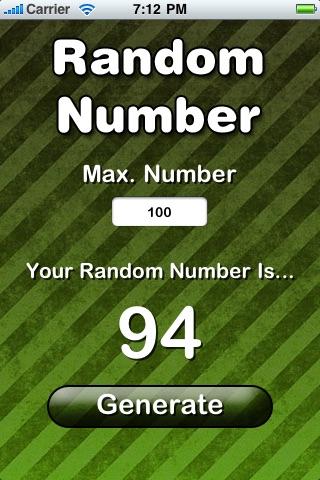 Random Number (FREE) screenshot one