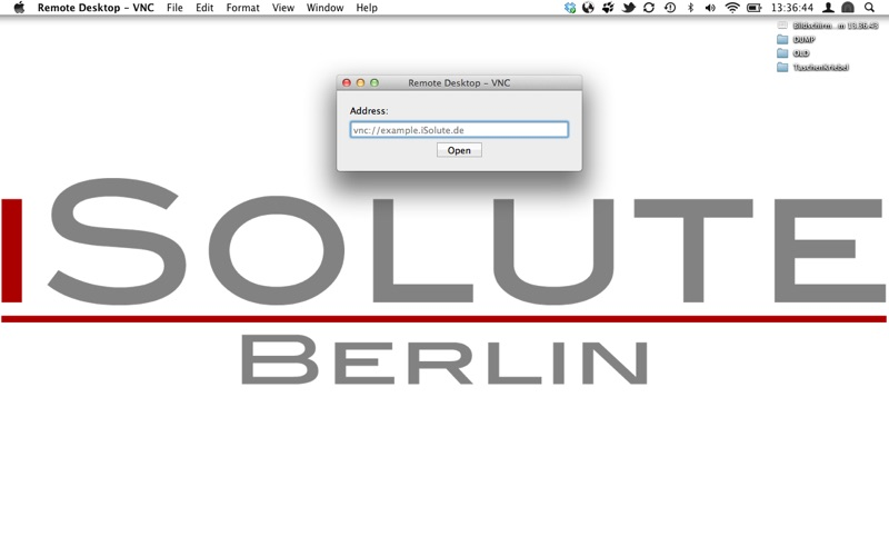 Remote Desktop - VNC Screenshot