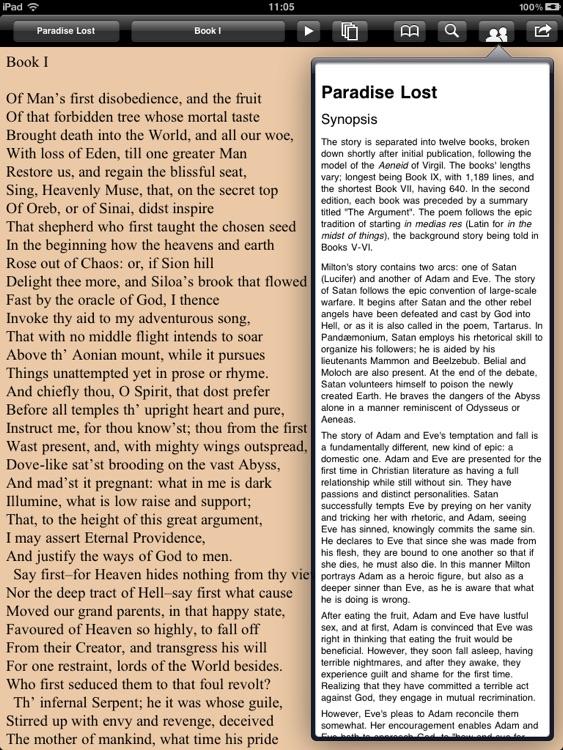Milton: Complete poems for iPad screenshot-4