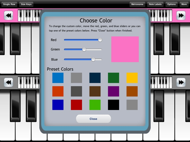Pocket Piano HD screenshot-3
