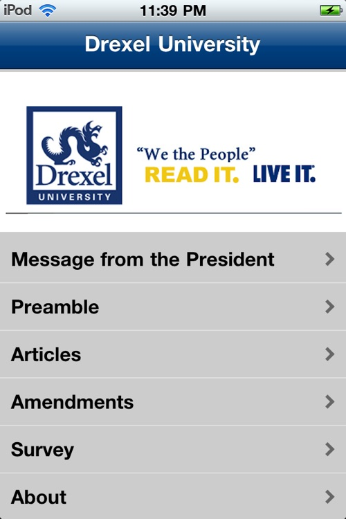 Drexel University U.S. Constitution screenshot-0